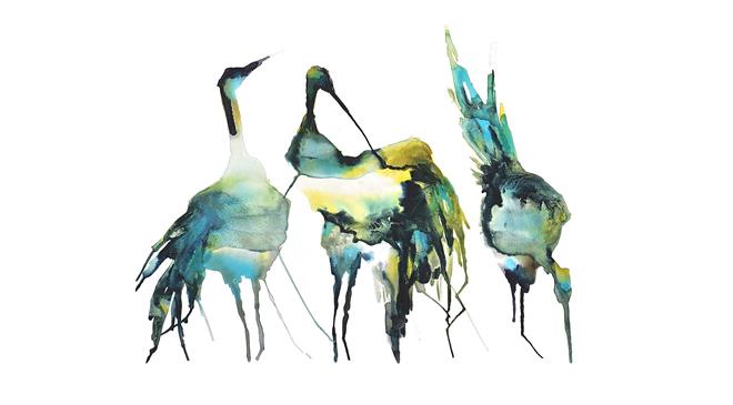 Vattenfåglar på fast mark i påsk