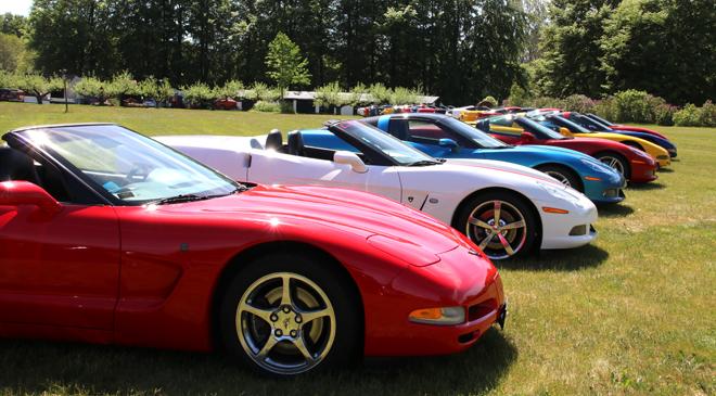 Tätt med Corvette på vinprovning
